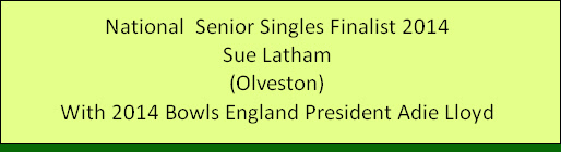 National  Senior Singles Finalist 2014